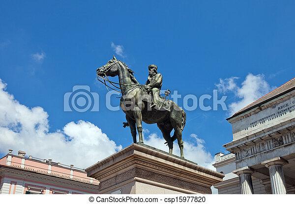 Monument to Giuseppe Garibaldi in Genoa (1893) - csp15977820