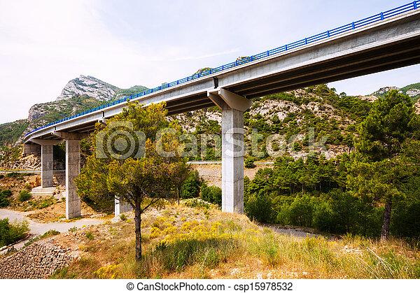 bridges in the mountains.   Catalonia - csp15978532