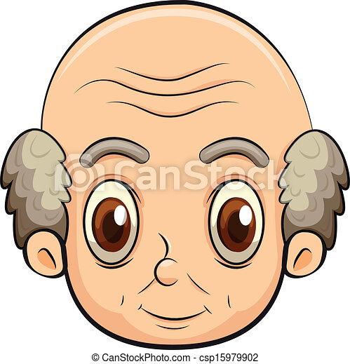 clipart vecteur de chauve  vieux  homme illustration  de  a  chauve  vieux  csp15979902 bald man cartoon clip art man bald head clipart