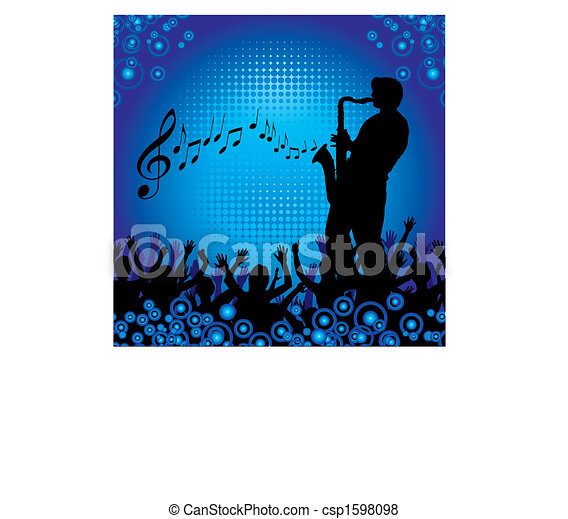 A sax player performs - csp1598098