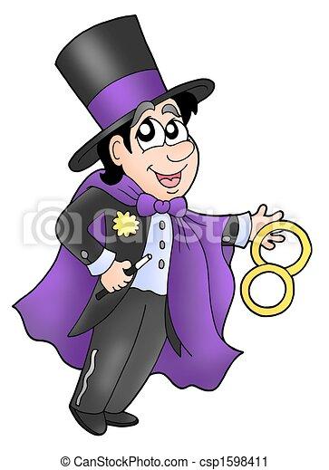 illustration magicien