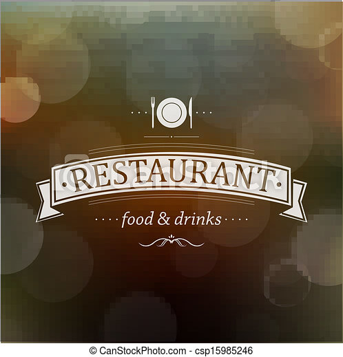 Retro Restaurant Menu - csp15985246