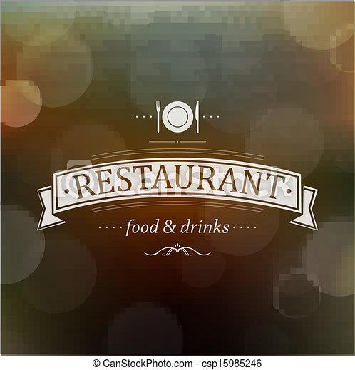 Retro Restaurant Menu - csp15985246