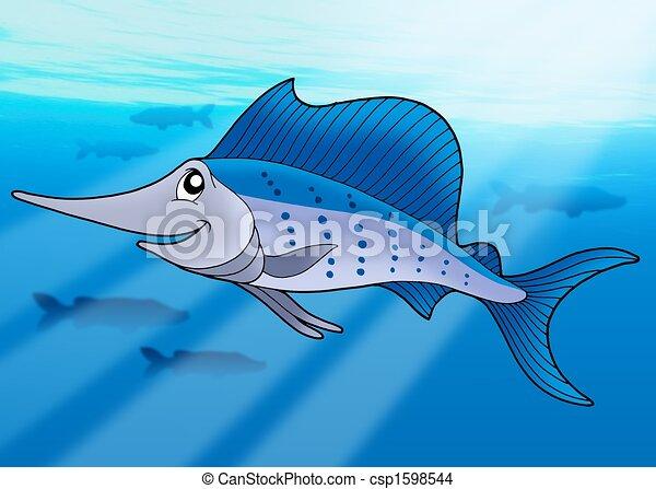 dibujos de sailfish  mar sailfish  en  mar    color Cartoon Sailfish Cartoon Sailfish
