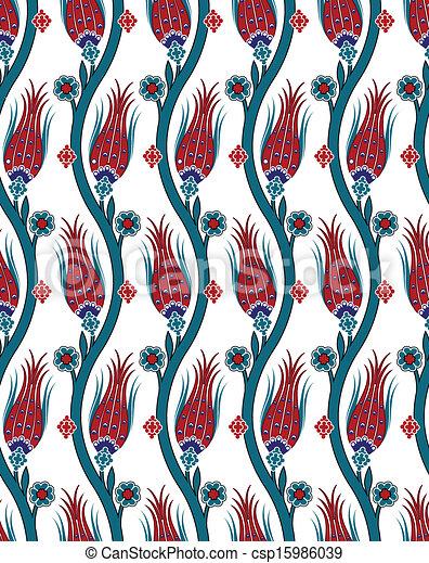 seamless pattern turkish tile - csp15986039