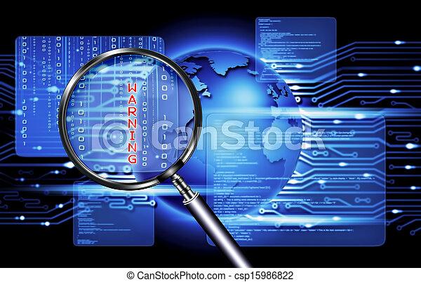 セキュリティー, コンピュータ, 技術 - csp15986822