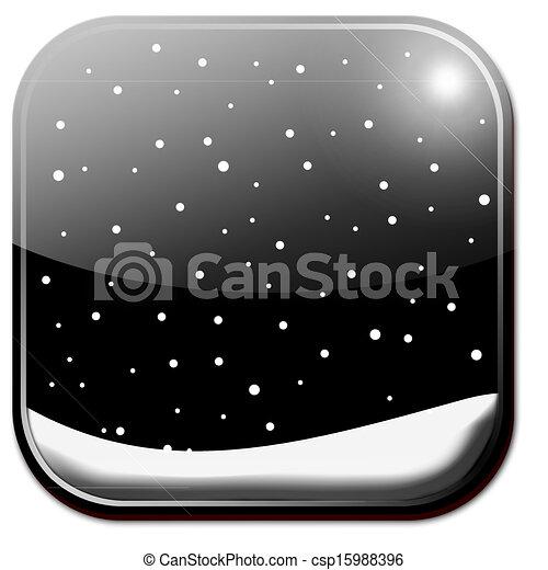 stock illustration von winterzeit app symbol csp15988396. Black Bedroom Furniture Sets. Home Design Ideas