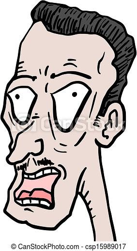 Vector Clip Art of Crazy face - Creative design of crazy ...