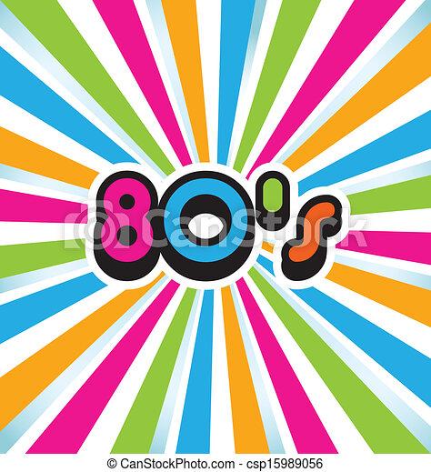 80s vector pop art background - csp15989056