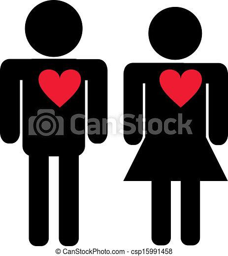 Man And Woman Love Art Vector Man Woman Love