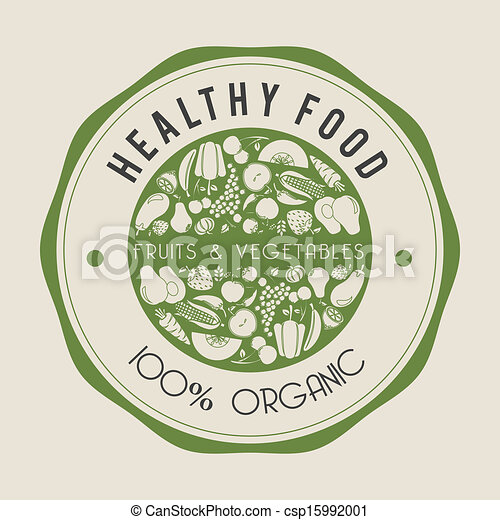 healthy food label - csp15992001