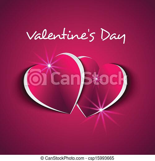Valentine`s Day card  - csp15993665