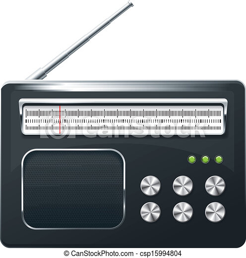 Vector Clipart of Radio - Vector app radio icon and for web ...