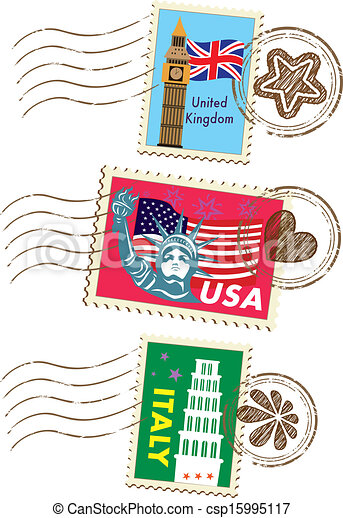 Landmarks stamps set - csp15995117