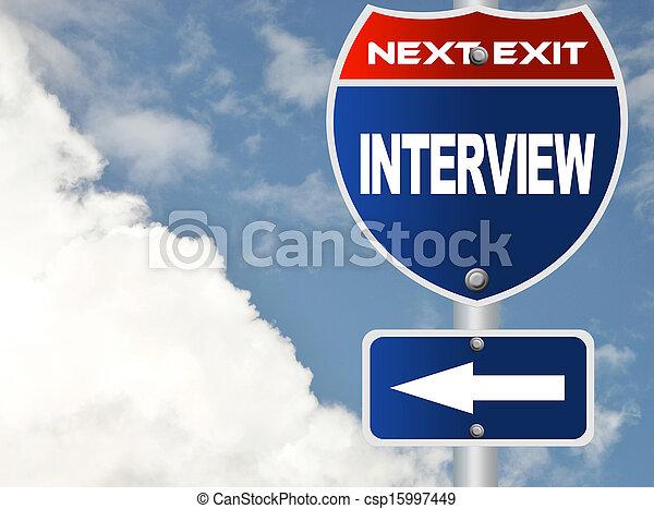 Interview road sign  - csp15997449