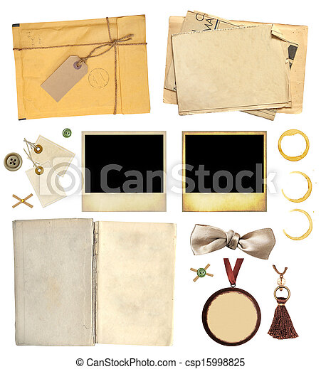 Collection elements for scrapbooking - csp15998825