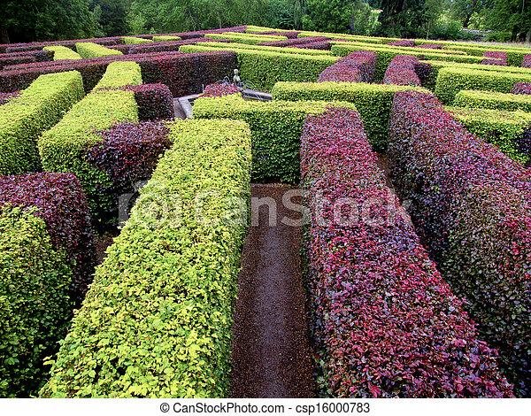 Pel culas de edgerow jard n laberinto verde y rojo for Jardin verde