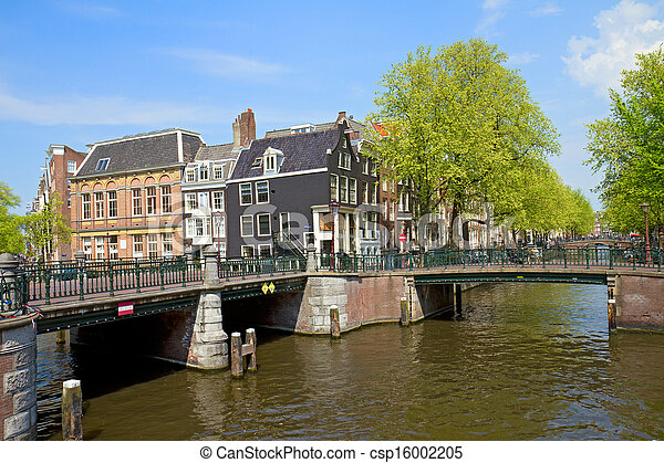 bridges of canal ring in Amsterdam - csp16002205