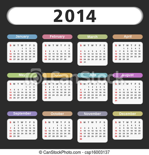 2014 Calendar - csp16003137