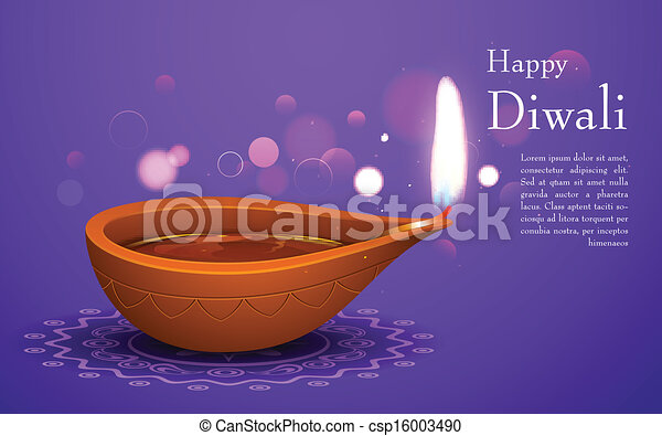 Diwali Holiday background - csp16003490