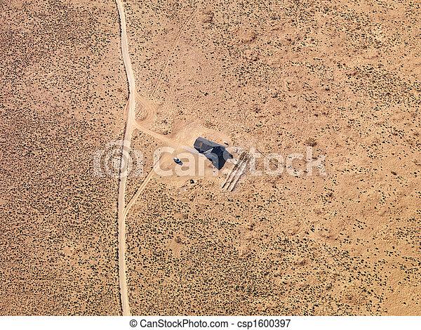 家, リモート, 航空写真 - csp1600397