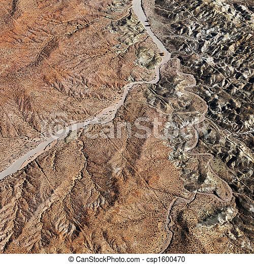 峡谷, 壮大, 航空写真 - csp1600470