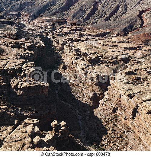 峡谷, 壮大, 航空写真 - csp1600478