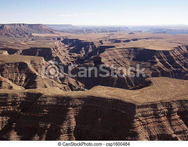 峡谷, 壮大, 航空写真 - csp1600484