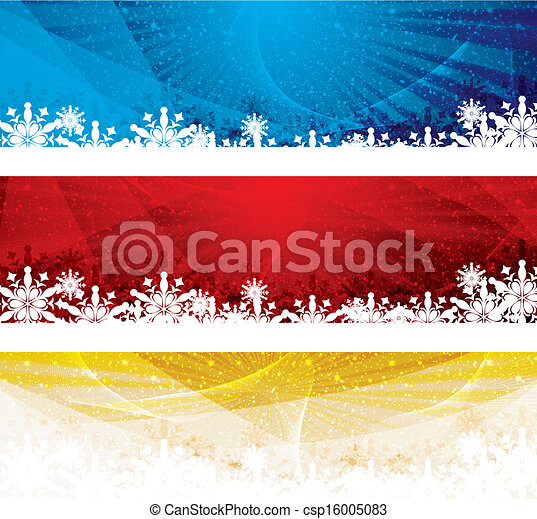 Abstract winter background banner - csp16005083