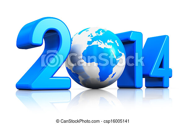 New Year 2014 concept - csp16005141