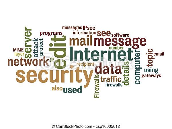 internet security text cloud - csp16005612