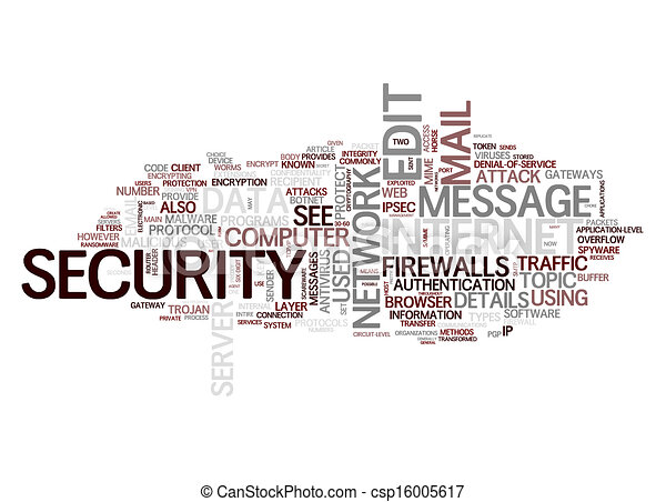 internet security text cloud - csp16005617