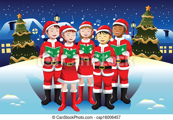 clipart vector of children singing in christmas choir a Country Snowman Family Clip Art snowman family clipart free