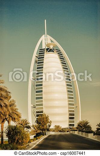 DUBAI, UAE-NOVEMBER 15: A general view of the world\'s first seven stars luxury hotel Burj Al Arab \