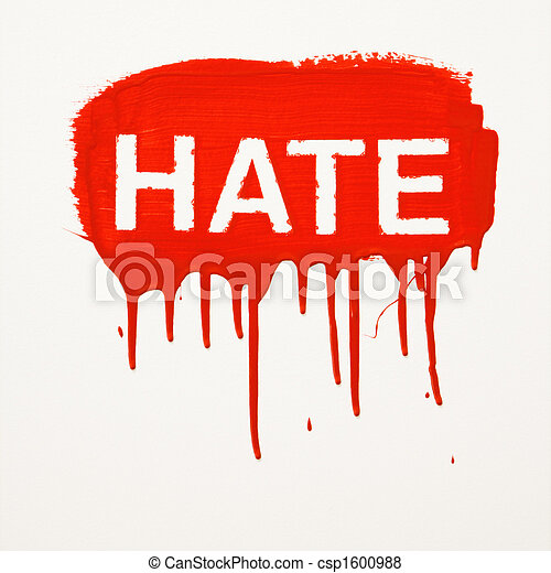 Hate painted on wall. - csp1600988