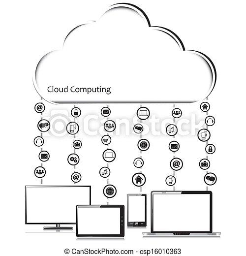 Vector Cloud computing concept - csp16010363