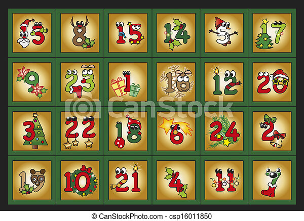 Stock Illustrations of advent calendar - illustration for advent ...