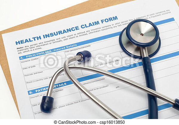 Health insurance claim form - csp16013850
