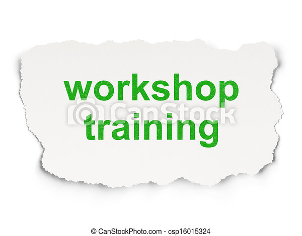 Education concept: Workshop Training - csp16015324