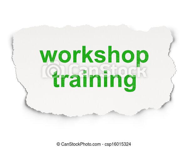Education concept: Workshop Training - csp16015324