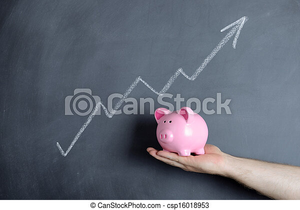 piggy bank  growth chart - csp16018953