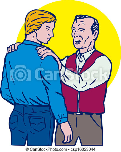 drawing of father talking to son illustration of father father and son talking clipart father and son clip art black and white
