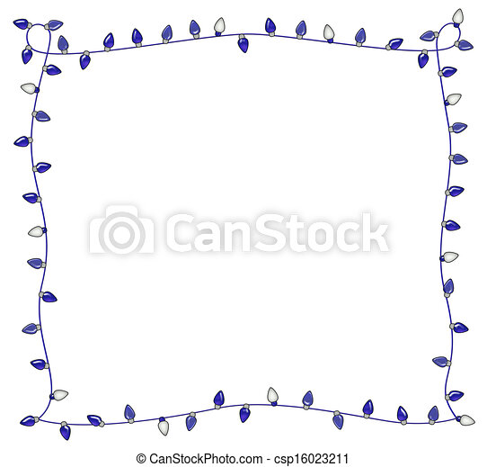 Blue Holiday Lights Frame - csp16023211