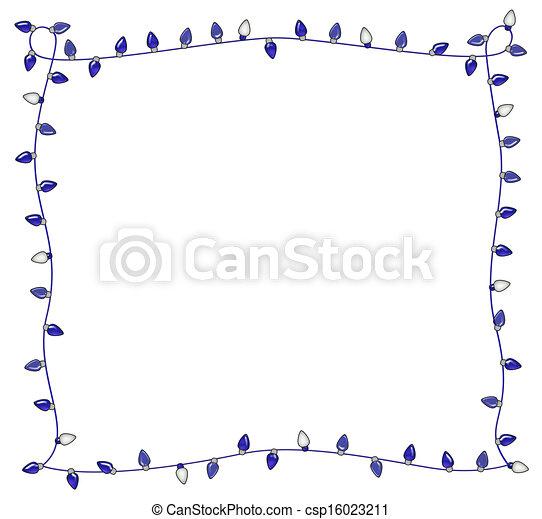 Blue Holiday Lights Frame - csp16023211