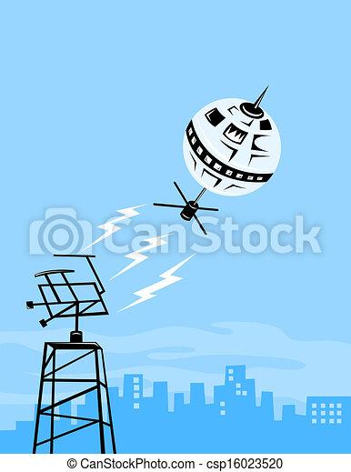 Satellite Aerial Dish - csp16023520
