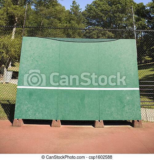 Tennis backboard. - csp1602588