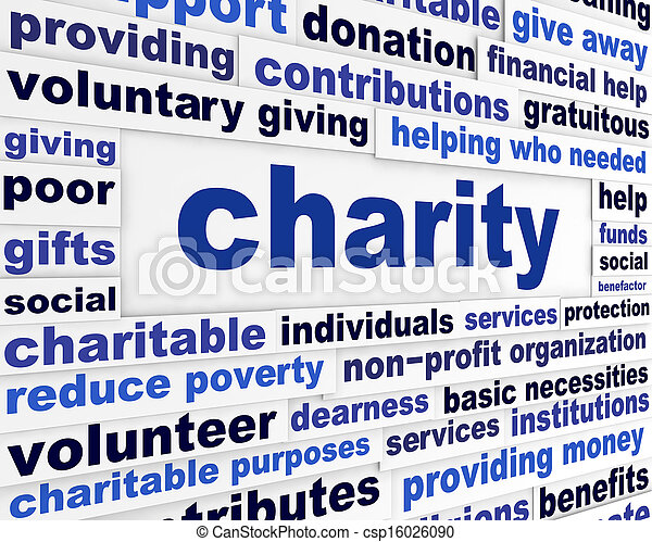 Charity social issue message