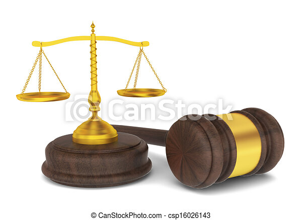 drawing of judge hammer with scales  law concept 3d Scales of Justice Drawing Law and Justice Clip Art