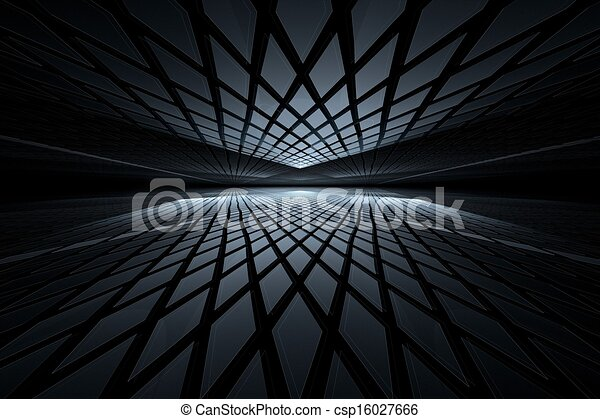 Abstract digital fractal art on perspective - csp16027666