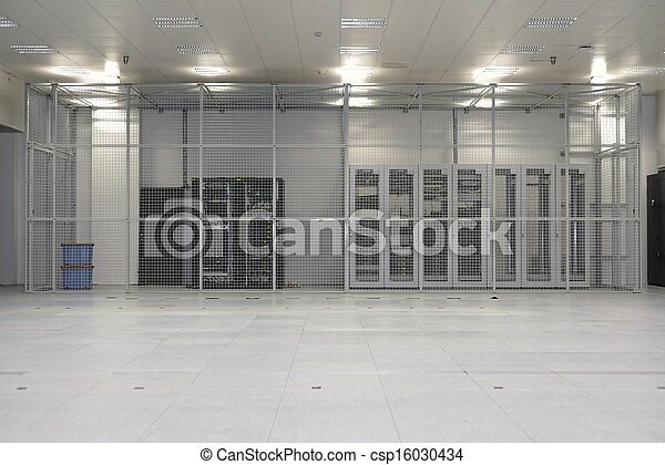 Clean industrial interior of a server room - csp16030434